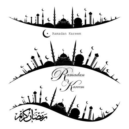 Ramadan Kareem icons set
