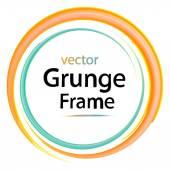 Grunge frame retro watercolor brushes design elements vector illustration