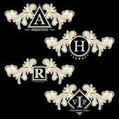 Vintage design elements calligraphy set of retro frames vignettes vector illustration