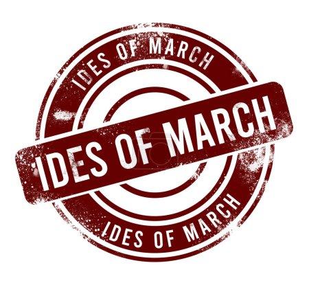 Photo pour Ides de Mars - bouton grunge rond rouge, timbre - image libre de droit