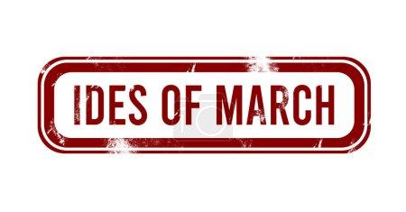 Photo pour Ides de Mars - bouton grunge rouge, timbre - image libre de droit