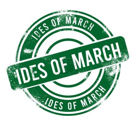 Photo pour Ides de Mars - bouton vert rond grunge, timbre - image libre de droit