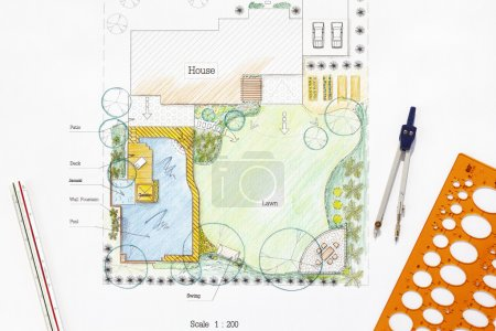Backyard garden design plan.