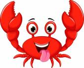 Vector illustration of funny cartoon crab