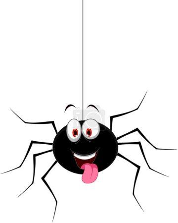 cute spider cartoon for you design