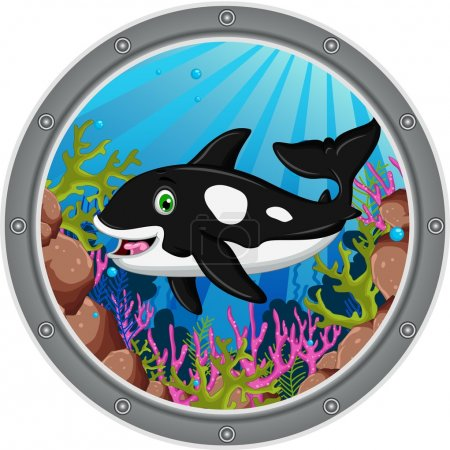 killer whale cartoon