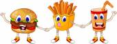 Vector illustration of fast food cartoon for you design