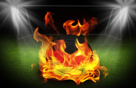 Germany Ireland Soccer ball on fire, Football Euro 2016