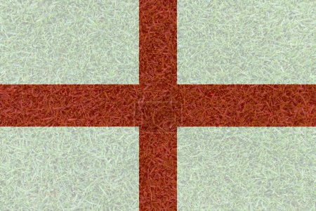 Football field textured by England national flags on euro 2016