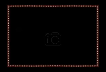 Red Back stage Light on black Space Background Frame