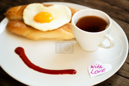 Photo for Morning breakfast with the smile - Royalty Free Image