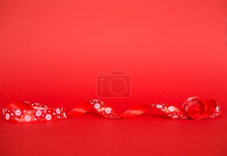 Holiday ribbon with hearts