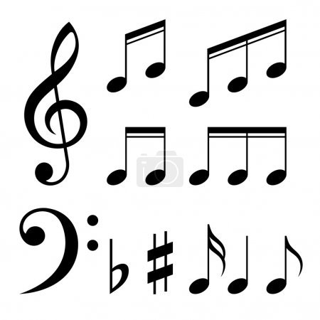 Set of music notes