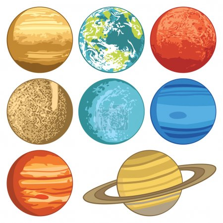 Illustration for Solar system planets. Vector illustration - Royalty Free Image