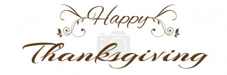 Illustration for Thankgiving text - Royalty Free Image