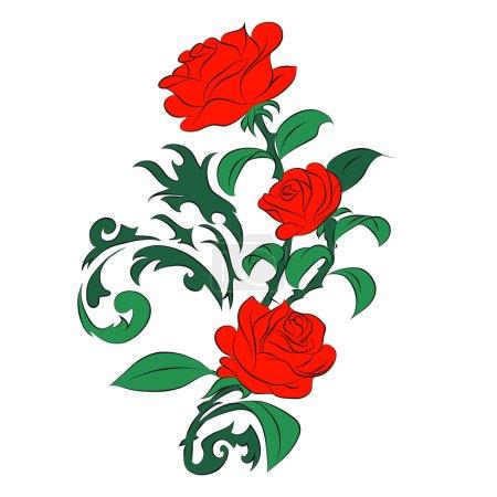 Photo pour Rose sur fond blanc - image libre de droit