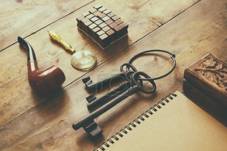 detective concept. Private Detective tools