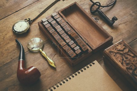 detective concept. Private Detective tools
