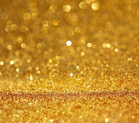 Foto de Abstact oro con espacio de copia. Gliiter bokeh luces - Imagen libre de derechos