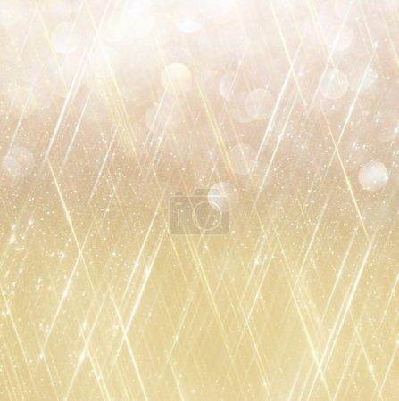 Photo pour Fond doré abstrait avec espace de copie. gliiter bokeh lumières - image libre de droit