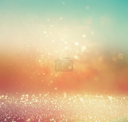 Blurred abstract background of bokeh lights and textures