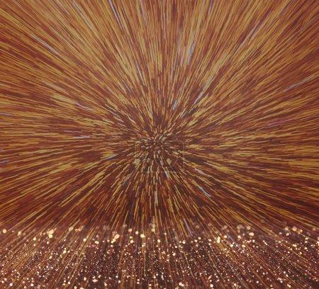 Photo pour Bokeh abstraite de la lumière fait irruption (light painting) - image libre de droit