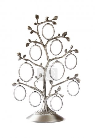 Image of vintage antique classical frame of family tree isolated on white