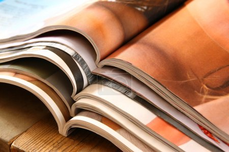 stack of printed magazines