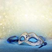 Modré ženské karnevalovou masku