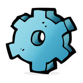 Cartoon illustration of cog symbol