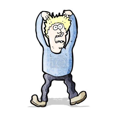 Illustration pour Caricature rétro avec texture. Isolé sur Blanc. - image libre de droit