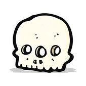 cartoon three eyed alien skull