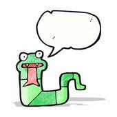 cartoon snake hissing