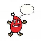 Kreslené vtipné vánoční tvor s myšlenkou bublina