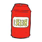 Plechovka od piva komiksově kreslenou