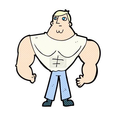 comic cartoon body builder