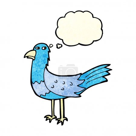Cartoon bird with thought bubble...