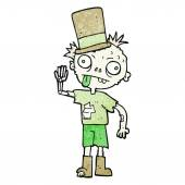 Freehand drawn texture cartoon zombie