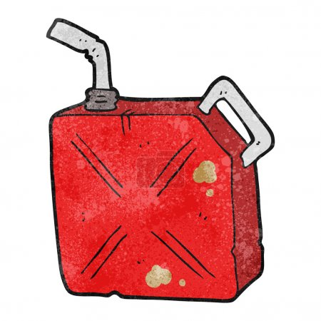 textured cartoon fuel can