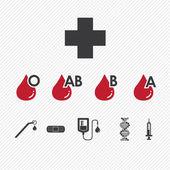 Blood donation Group icons setillustration eps10