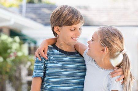 Smiling children outdoor