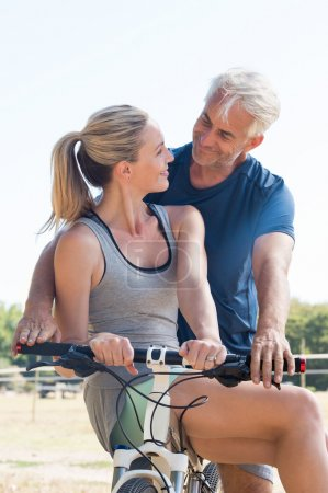Couple on cycle ride