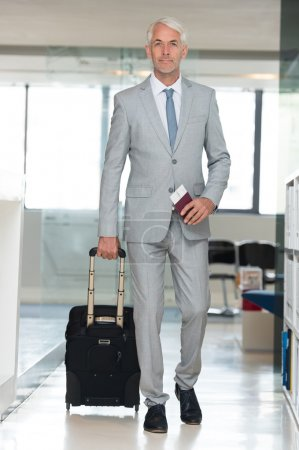 Business travel in airport