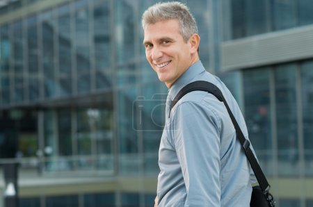 Happy Businessman Going To Work