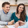Young couple meeting financial advisor for investm...
