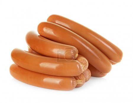 Sausages isolated on a white background...