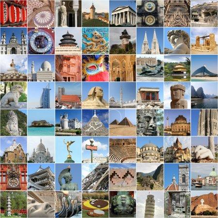Photo for World famous landmark collage - Royalty Free Image