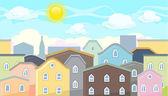 Seamless editable city roofs for platform game design