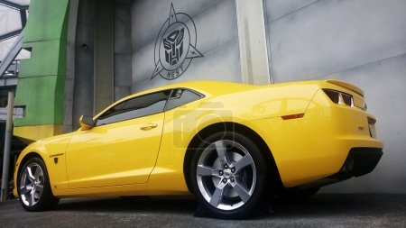 Real Size Yellow Chevrolet Camaro