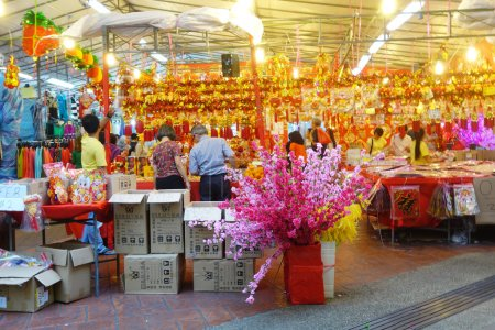 Customers shop for Chinese New Year